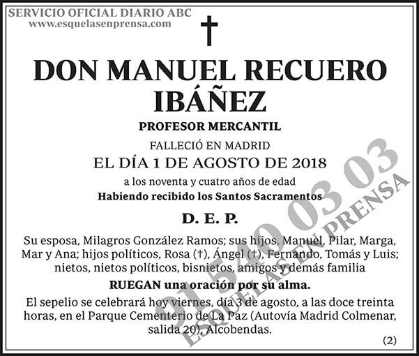 Manuel Recuero Ibáñez